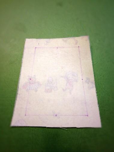 7-1.側面の線の中心に印をつける